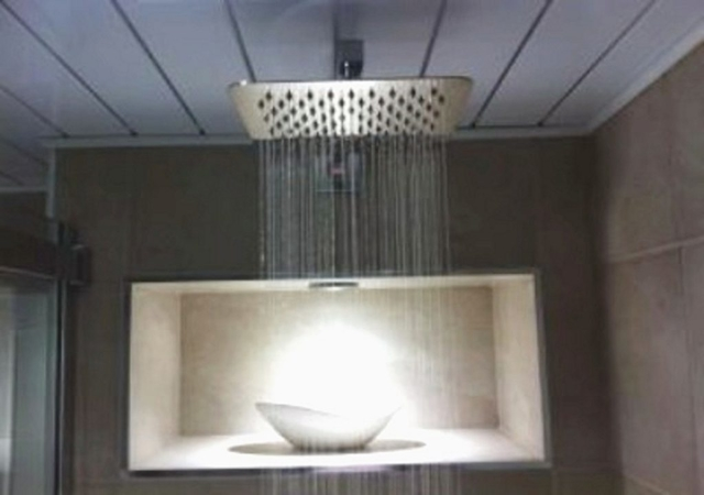 Luxurious rainfall shower