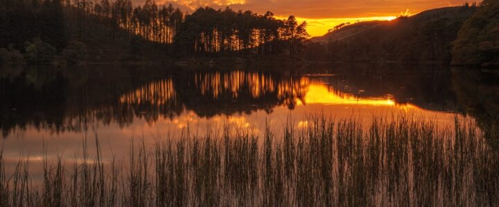 Sunset over Loch Trool - on the SWC 300 route