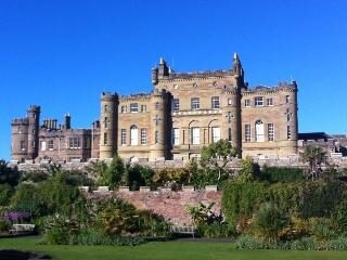 View of Culzean Castle in the sunshine